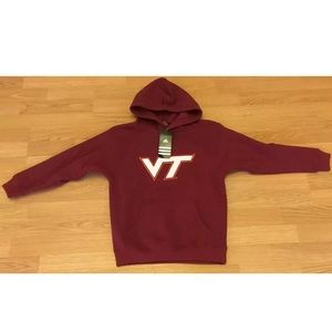Virginia Tech Hokies Small (8) Hooded  Sweatshirt